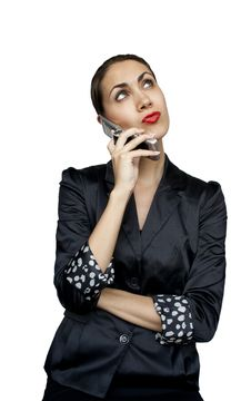 Free Businesswoman Talking On The Phone Royalty Free Stock Image - 20066736