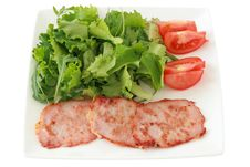 Free Fried Pork With Salad Stock Photography - 20066752
