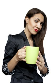 Free Businesswoman With A Cup Of Tea Or Coffee Royalty Free Stock Photos - 20066778