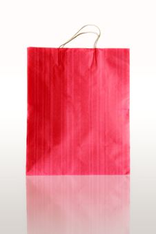 Red Paper Bags On Reflect Floor Royalty Free Stock Image