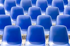 Free Blue Chairs In The Square Stock Photo - 20066850