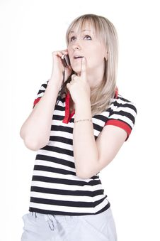 Girl Talking On The Phone Royalty Free Stock Images