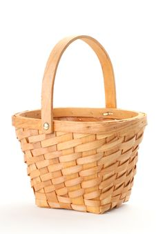 Free Small Wicker Basket Royalty Free Stock Image - 20067216