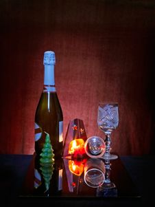 Free Still Life With Fired Candel Royalty Free Stock Photography - 20068577