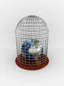 Free Earth In Cage Stock Photography - 20068702