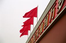 Free Red Flags On The Tian An Men Royalty Free Stock Photos - 20068758