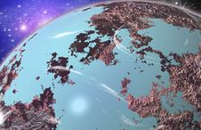 Free Blue Planet In Space Stock Photo - 20068930