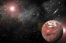 Free Red Planet In Space Stock Photography - 20068982