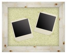 Free Blank Photo Frames On Cork Board Royalty Free Stock Photos - 20069328