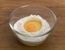 Free Eggs And Flour Ingredients Royalty Free Stock Image - 20069406
