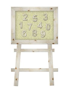 Free Wooden Number On Board Stock Images - 20069434