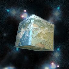 Free The Cube World And Stars Royalty Free Stock Photo - 20069515