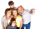 Free Family Together Taking Self-portrait Stock Photography - 20079132