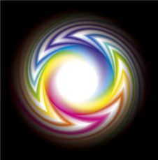 Free Vector Frame Of The Rainbow-colored Bands Royalty Free Stock Photography - 20070037