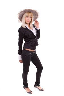 Free Girl Posing With Hat Royalty Free Stock Photos - 20070278