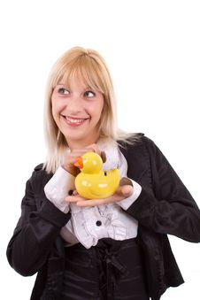 Free Woman With A Money Box Stock Photography - 20070312