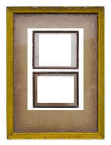 Old Wooden Picture Frame. Stock Image