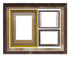 Old Wooden Picture Frame. Royalty Free Stock Photos