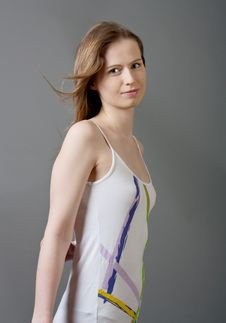 Free Attractive Young Woman In Dress Stock Photo - 20070520