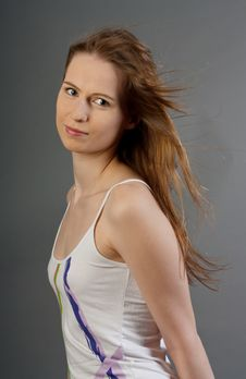 Free Attractive Young Woman In Dress Royalty Free Stock Photo - 20070535