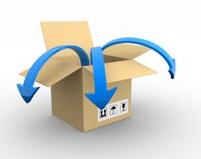 Free Box And Arrow Stock Photo - 20070540