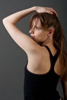Free Young Fitness Woman From Back Royalty Free Stock Image - 20070586