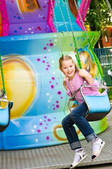Free The Beautiful Girl On An Attraction Stock Photo - 20070610
