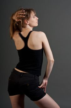 Young Fitness Woman From Back Stock Photography