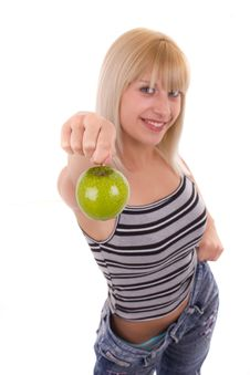 Free Green Apple Royalty Free Stock Photography - 20070857