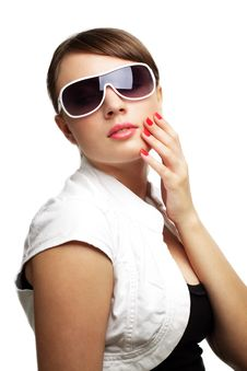 Young Woman In Sunglasses Stock Photo