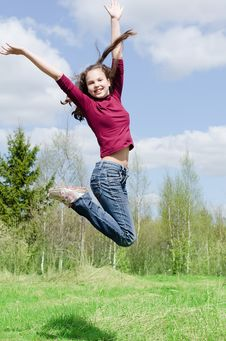 Free The Jumping Girl Royalty Free Stock Photos - 20072538