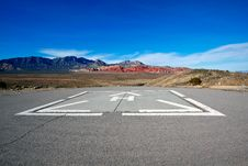 Free Helicopter Pad With A View Of The Mojave Desert. Royalty Free Stock Photos - 20072858