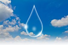 Eco Concept : Water Drop In The Sky Royalty Free Stock Photo