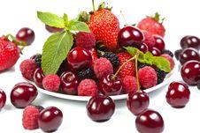 Free Juicy Berries On White Stock Image - 20073121