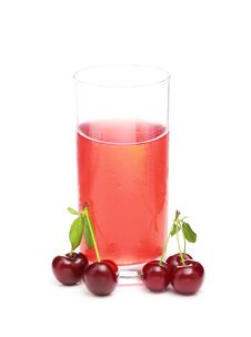 Free Juice And A Cherries Stock Image - 20074371