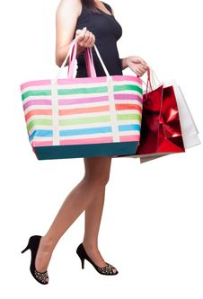 Free Beautiful Woman With Shopping Bags Royalty Free Stock Photos - 20075698