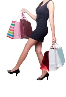 Free Beautiful Woman With Shopping Bags Royalty Free Stock Image - 20075836