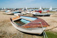 Boats In A Bay At Low Tide Stock Photos