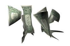 Dollar Drops Stock Image