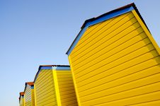 Free Beach Huts On A Summer Evening Stock Photography - 20076832