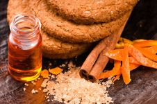 Cookies With Cinnamon And Orange Royalty Free Stock Photography