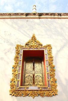 Free Window Frame Of Thai Arts Stock Image - 20077491
