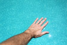 Free Hand On Water Stock Image - 20077541