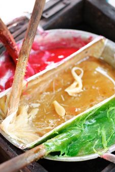 Free Thai Colorful Sweetmeat Royalty Free Stock Photos - 20077828