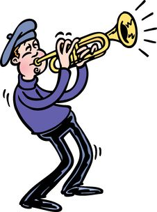 Free Trumpet Royalty Free Stock Image - 20077986