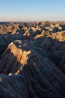 Free Badlands, South Dakota. Sunrise Stock Photos - 20078443