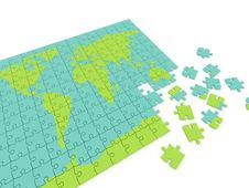 Puzzle Map Royalty Free Stock Photography