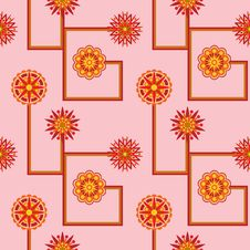 Free Retro Flower Seamless Wallpaper Stock Images - 20078754