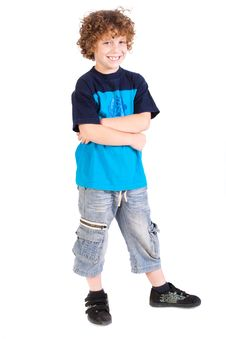 Free Kid Posing With Arms Crossed Royalty Free Stock Photo - 20079095