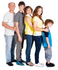 Free Attractive, Happy Caucasian American Family Stock Photography - 20079102
